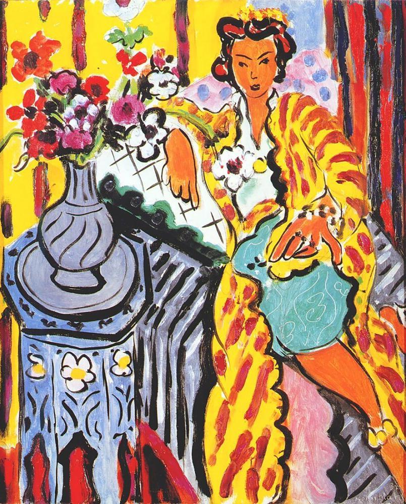 Henri Matisse Sarı Bornozlu Cariye, Figür, Henri Matisse