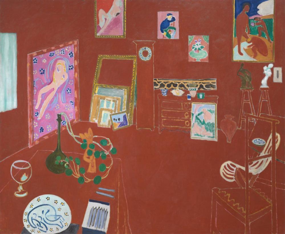 Henri Matisse Red Studio, Canvas, Henri Matisse, kanvas tablo, canvas print sales