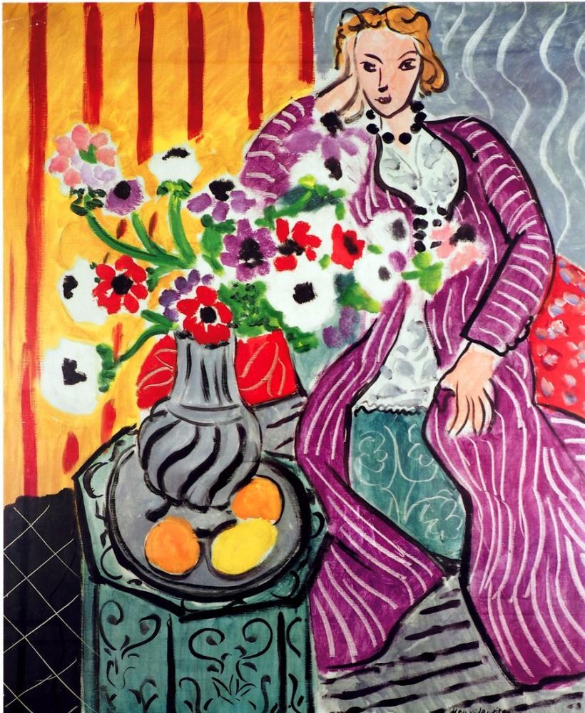 7b2cdfd8c9a Henri Matisse Robe Violette Et Anemones