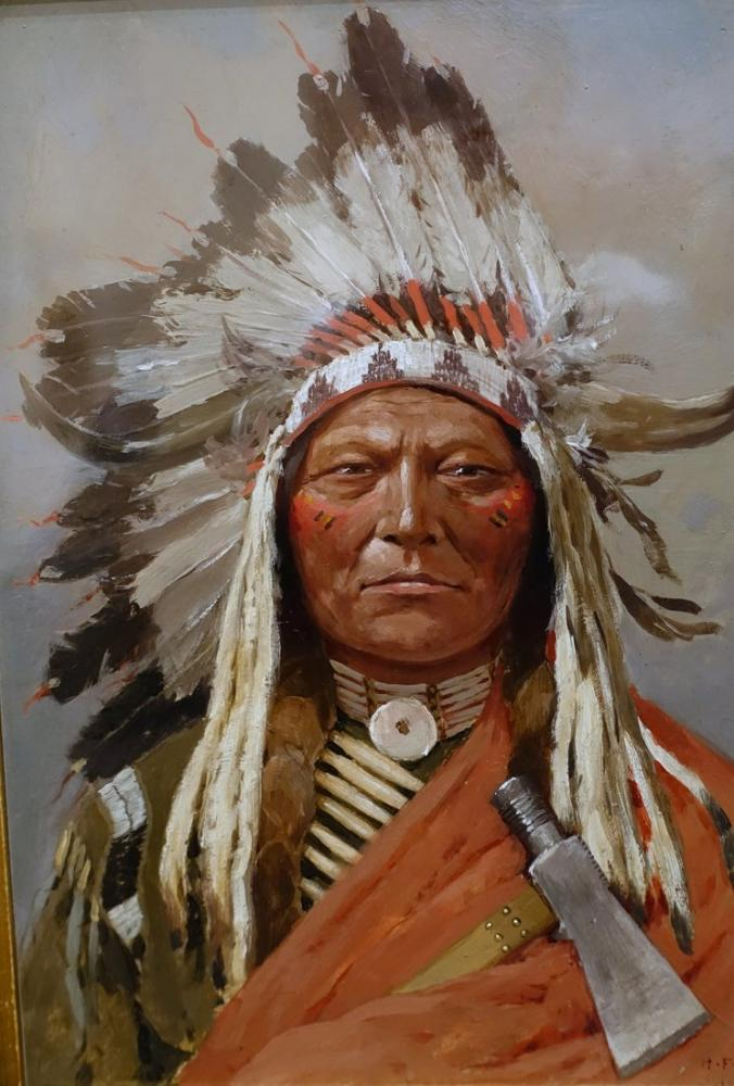 Henry François Farny Sitting Bull, Canvas, Henry Farny, kanvas tablo, canvas print sales