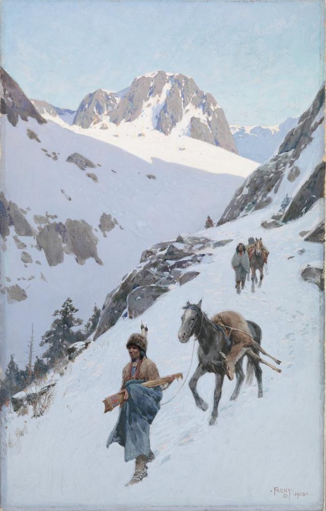 Henry François Farny A Successful Hunt, Canvas, Henry Farny, kanvas tablo, canvas print sales