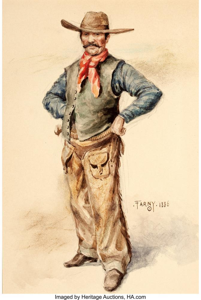Henry François Farny The Cowboy, Canvas, Henry Farny, kanvas tablo, canvas print sales