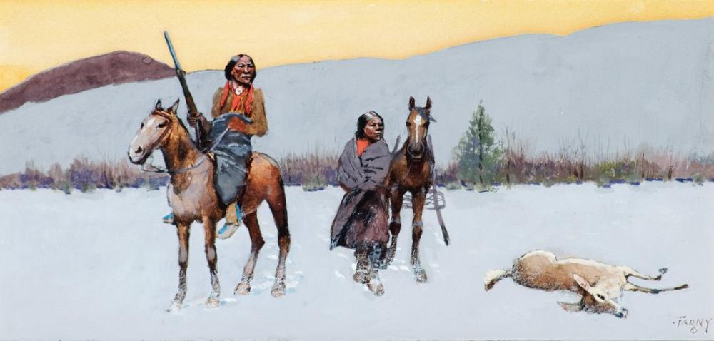 Henry François Farny Wanderers, Kanvas Tablo, Henry Farny, kanvas tablo, canvas print sales
