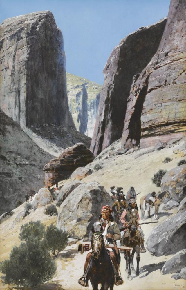 Henry François Farny Geçiş Yoluyla, Kanvas Tablo, Henry Farny, kanvas tablo, canvas print sales