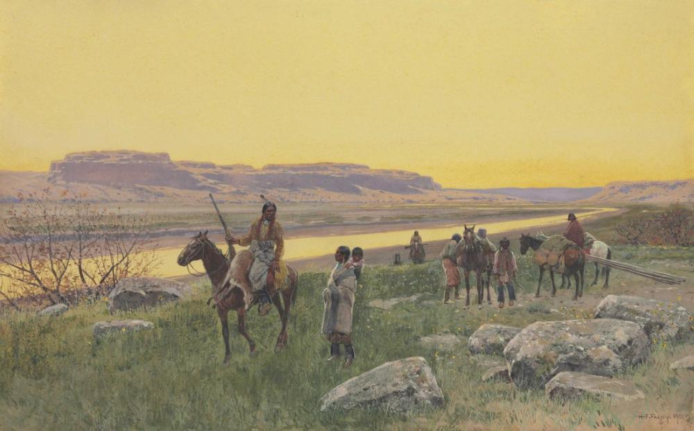 Henry François Farny Yeni Meralar, Kanvas Tablo, Henry Farny, kanvas tablo, canvas print sales