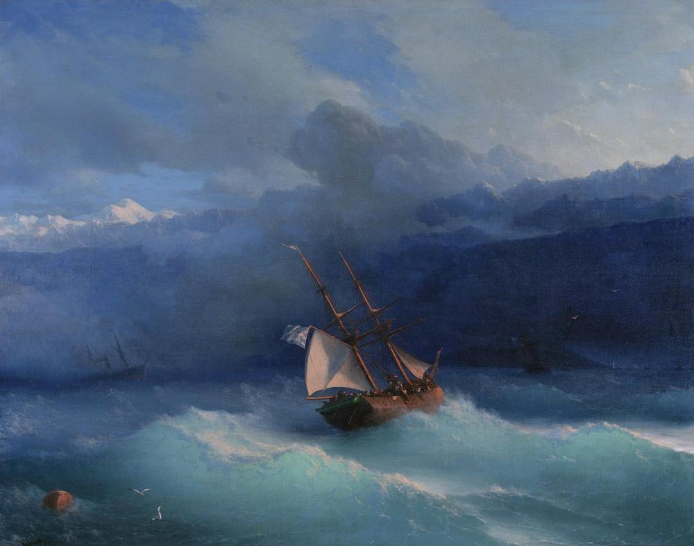 Ivan Aivazovsky Kıyı Boyunca, Kanvas Tablo, Ivan Aivazovsky, kanvas tablo, canvas print sales