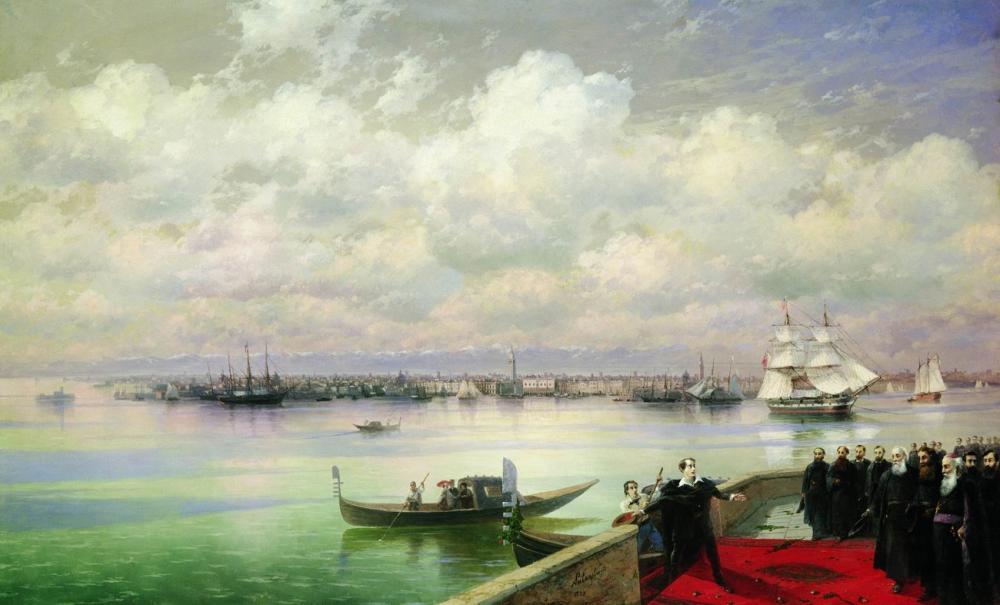 Ivan Aivazovsky Bayron San Lazzaro Ziyareti, Kanvas Tablo, Ivan Aivazovsky, kanvas tablo, canvas print sales