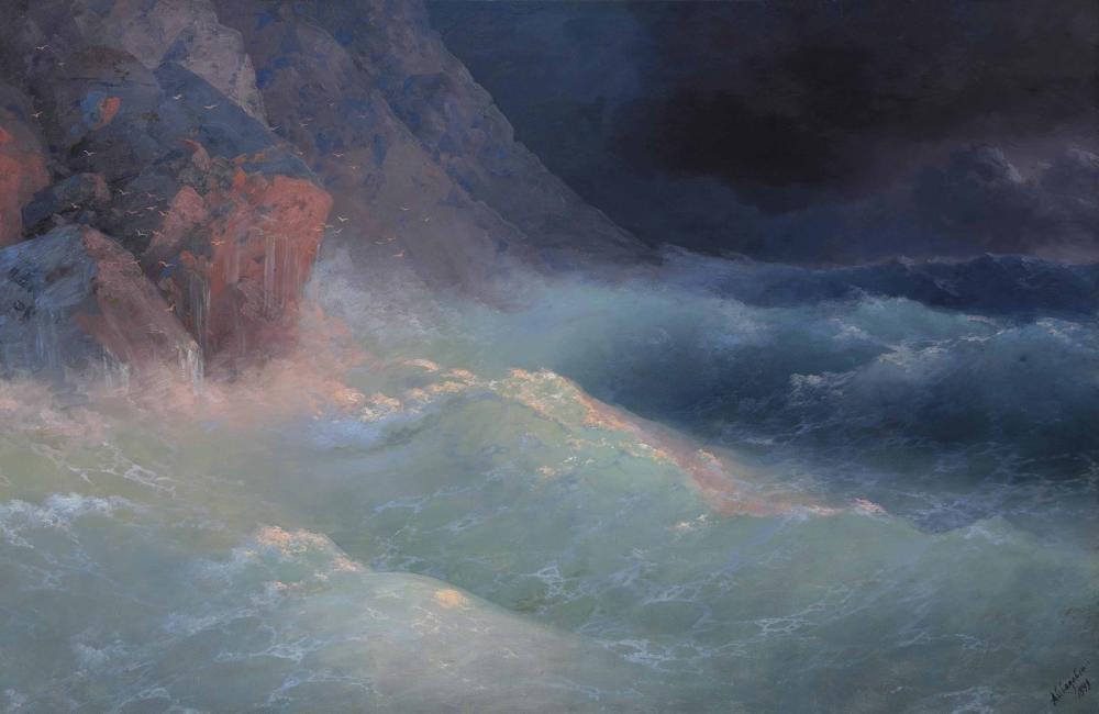 Ivan Aivazovsky Fırtına Karadeniz, Kanvas Tablo, Ivan Aivazovsky, kanvas tablo, canvas print sales