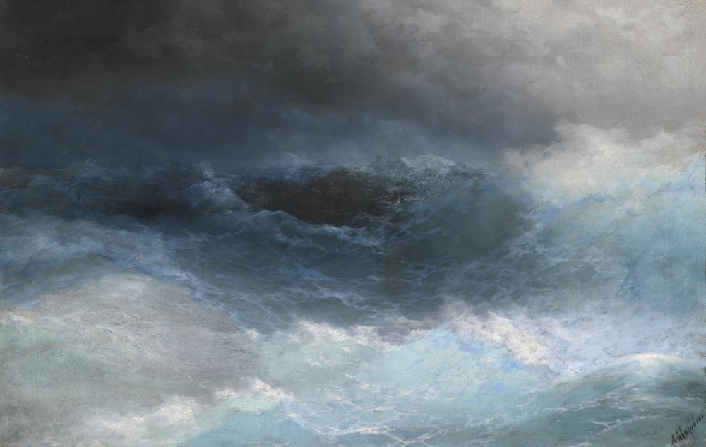 Ivan Aivazovsky Fırtınalı Deniz, Kanvas Tablo, Ivan Aivazovsky, kanvas tablo, canvas print sales