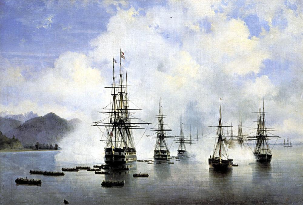 Ivan Aivazovsky Subashi Desant, Canvas, Ivan Aivazovsky, kanvas tablo, canvas print sales