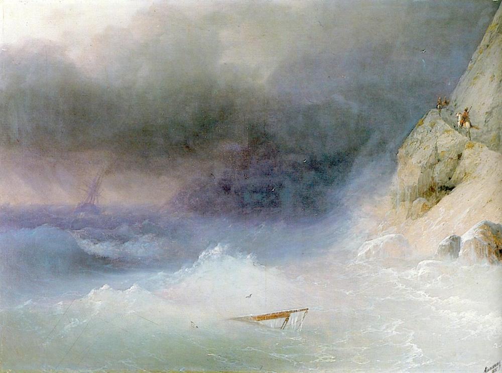 Ivan Aivazovsky Batık Gemi, Kanvas Tablo, Ivan Aivazovsky, kanvas tablo, canvas print sales