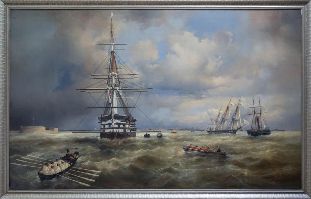 Ivan Aivazovsky The Aivaz Kronstadt Raid, Canvas, Ivan Aivazovsky, kanvas tablo, canvas print sales