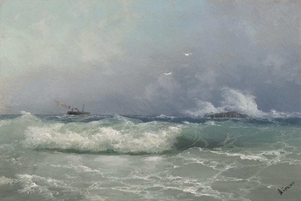 Ivan Aivazovsky Biarritz, Kanvas Tablo, Ivan Aivazovsky, kanvas tablo, canvas print sales