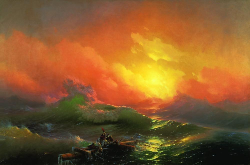 Ivan Aivazovsky The Ninth Wave, Canvas, Ivan Aivazovsky, kanvas tablo, canvas print sales
