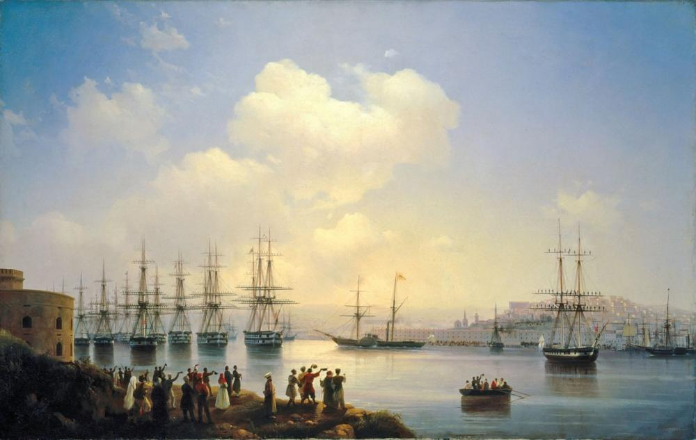 Ivan Aivazovsky Sebastopol Yollarındaki Rus Filosu, Kanvas Tablo, Ivan Aivazovsky, kanvas tablo, canvas print sales