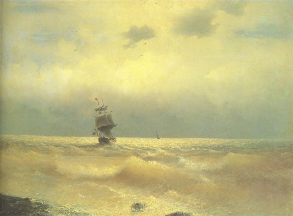Ivan Aivazovsky Kıyıya Yakın Gemi, Kanvas Tablo, Ivan Aivazovsky, kanvas tablo, canvas print sales