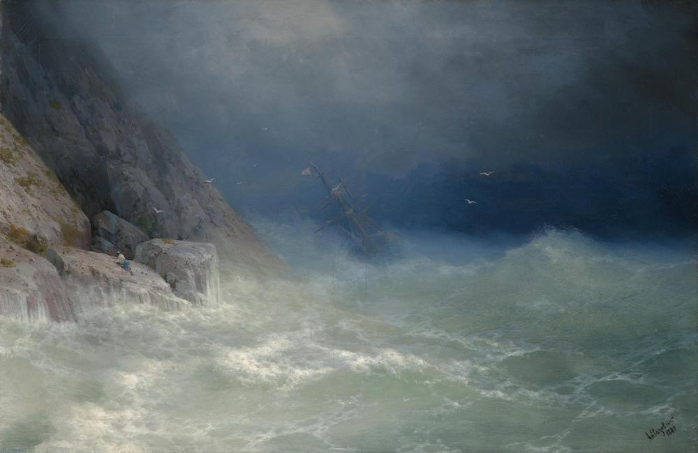 Ivan Aivazovsky Kurtulan, Kanvas Tablo, Ivan Aivazovsky, kanvas tablo, canvas print sales