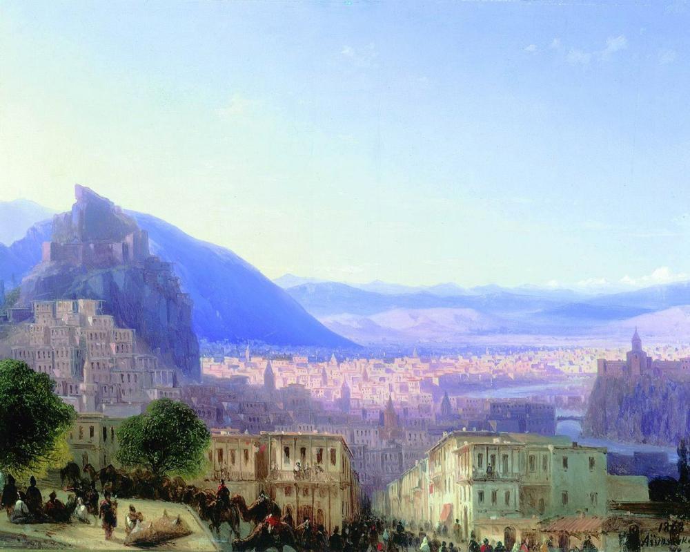 Ivan Aivazovsky Tiflis, Kanvas Tablo, Ivan Aivazovsky, kanvas tablo, canvas print sales