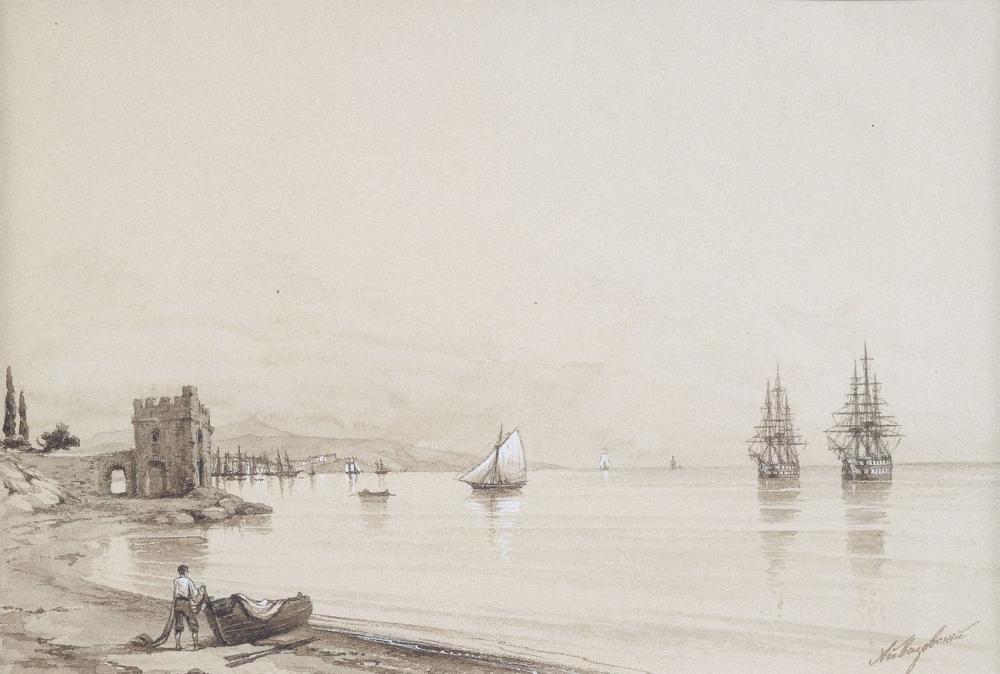 Ivan Aivazovsky Sayısız Yelkenli Gemiden Görünüm, Kanvas Tablo, Ivan Aivazovsky, kanvas tablo, canvas print sales