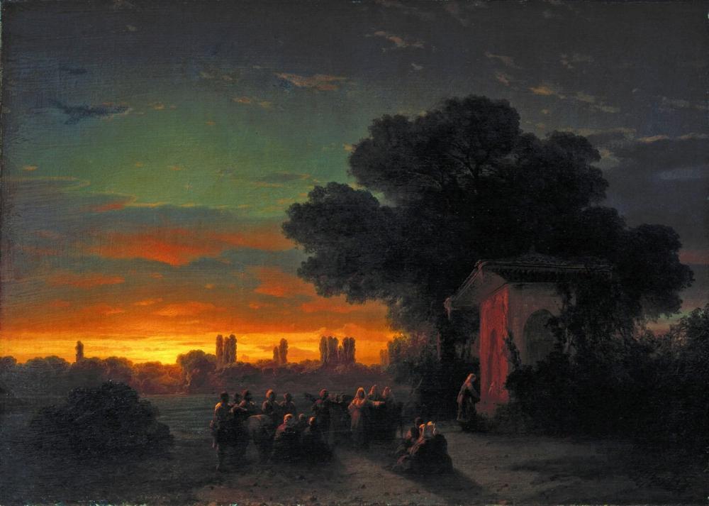 Ivan Aivazovsky Günbatımında Görüntülemek Kırım, Kanvas Tablo, Ivan Aivazovsky, kanvas tablo, canvas print sales
