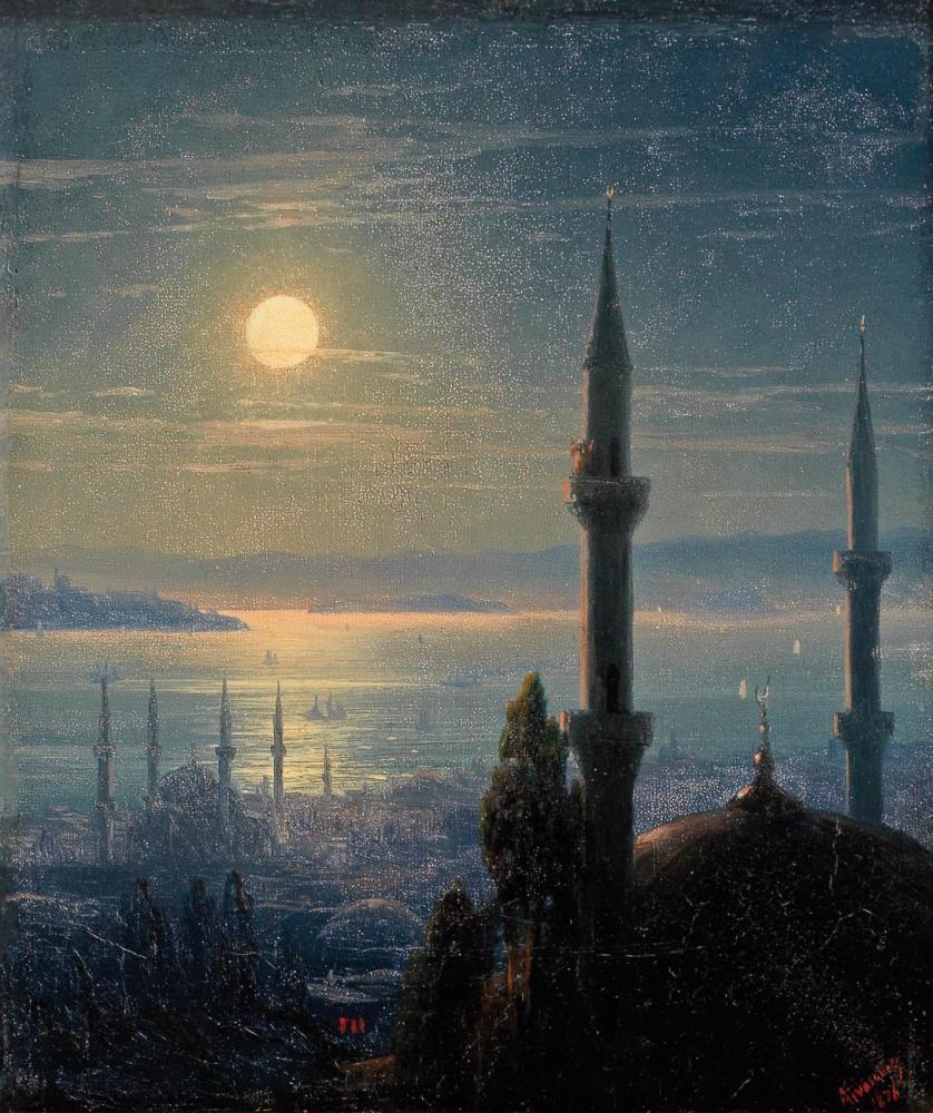 Ivan Aivazovsky Konstantinopolis Görünümü, Kanvas Tablo, Ivan Aivazovsky, kanvas tablo, canvas print sales
