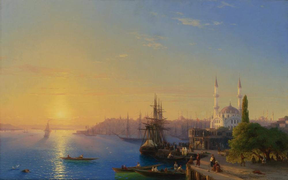 Ivan Aivazovsky View Of Constantinople And The Bosphorus, Canvas, Ivan Aivazovsky, kanvas tablo, canvas print sales