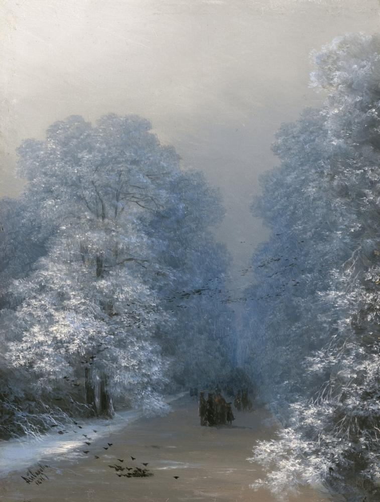 Ivan Aivazovsky Kış Manzarası, Kanvas Tablo, Ivan Aivazovsky, kanvas tablo, canvas print sales
