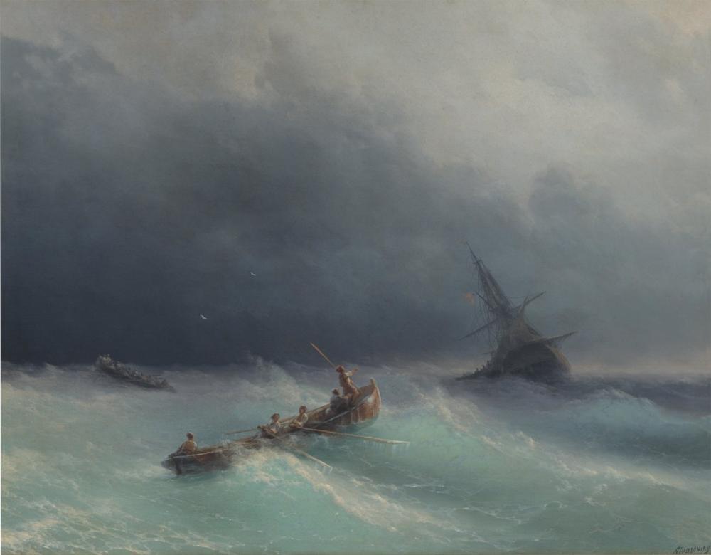Ivan Aivazovsky Denizde Fırtına, Kanvas Tablo, Ivan Aivazovsky, kanvas tablo, canvas print sales