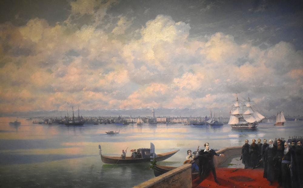 Ivan Aivazovsky Byron San Lazzaro, Canvas, Ivan Aivazovsky, kanvas tablo, canvas print sales