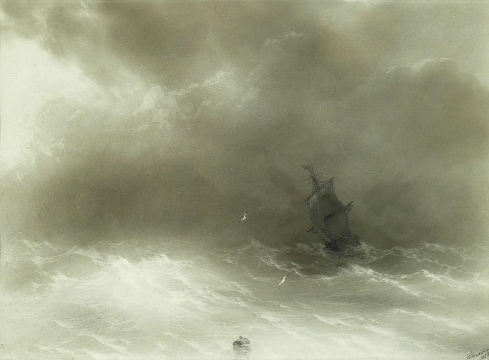 Ivan Aivazovsky Sakin Sular, Kanvas Tablo, Ivan Aivazovsky, kanvas tablo, canvas print sales