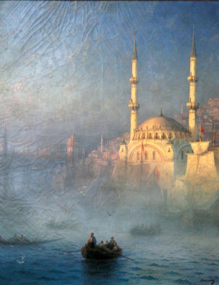 Ivan Aivazovsky Konstantinopolis Top Kahne Camii, Kanvas Tablo, Ivan Aivazovsky, kanvas tablo, canvas print sales