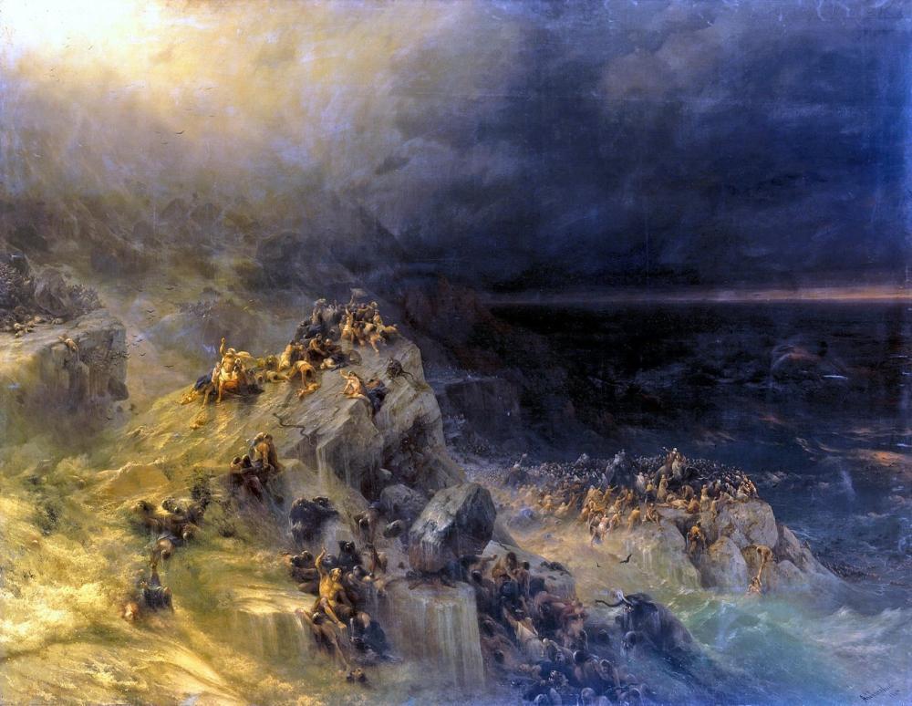 Ivan Aivazovsky Deluge, Canvas, Ivan Aivazovsky, kanvas tablo, canvas print sales