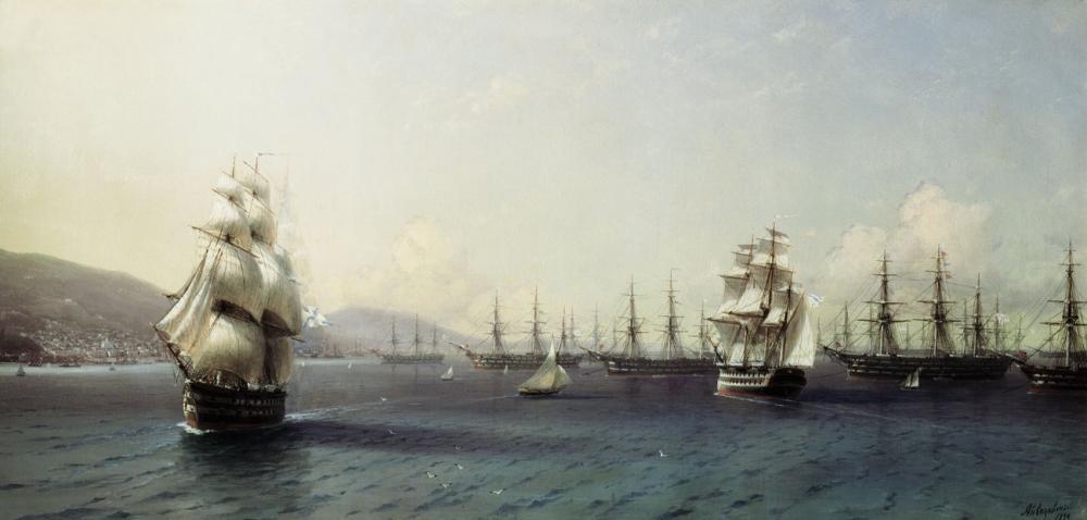 Ivan Aivazovsky Feodosia, Canvas, Ivan Aivazovsky, kanvas tablo, canvas print sales