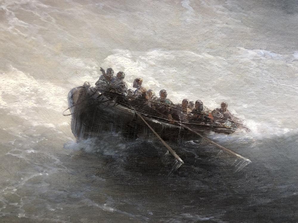 Ivan Aivazovsky İnsanlarla Parça Tekne, Kanvas Tablo, Ivan Aivazovsky, kanvas tablo, canvas print sales