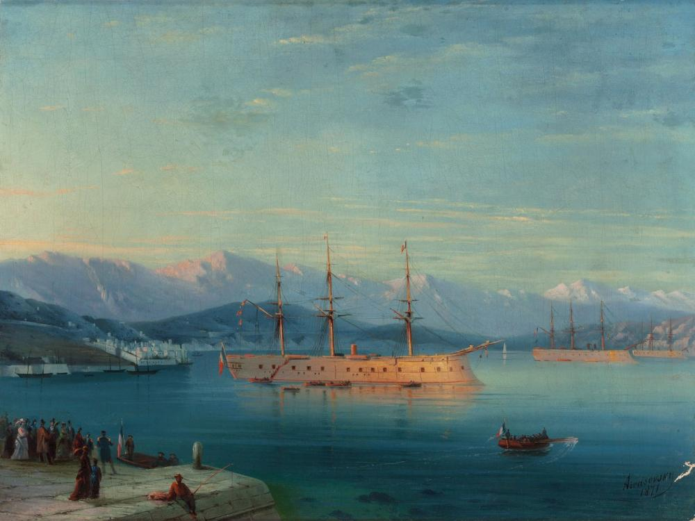 Ivan Aivazovsky French Ships Departing The Black Sea, Canvas, Ivan Aivazovsky, kanvas tablo, canvas print sales