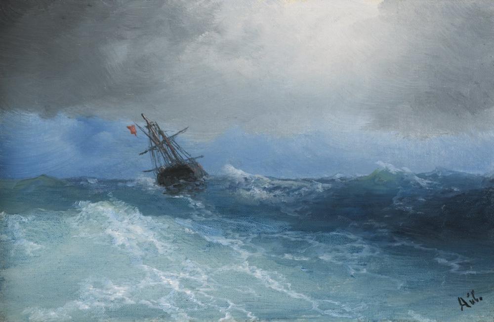 Ivan Aivazovsky Fırtına Toplanıyor, Kanvas Tablo, Ivan Aivazovsky, kanvas tablo, canvas print sales