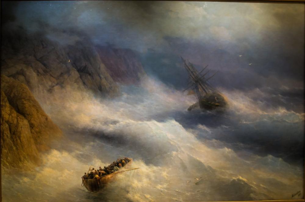 Ivan Aivazovsky Gemiden Kurtulmak, Kanvas Tablo, Ivan Aivazovsky, kanvas tablo, canvas print sales