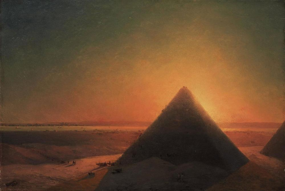 Ivan Aivazovsky Büyük Piramit Gize, Kanvas Tablo, Ivan Aivazovsky, kanvas tablo, canvas print sales
