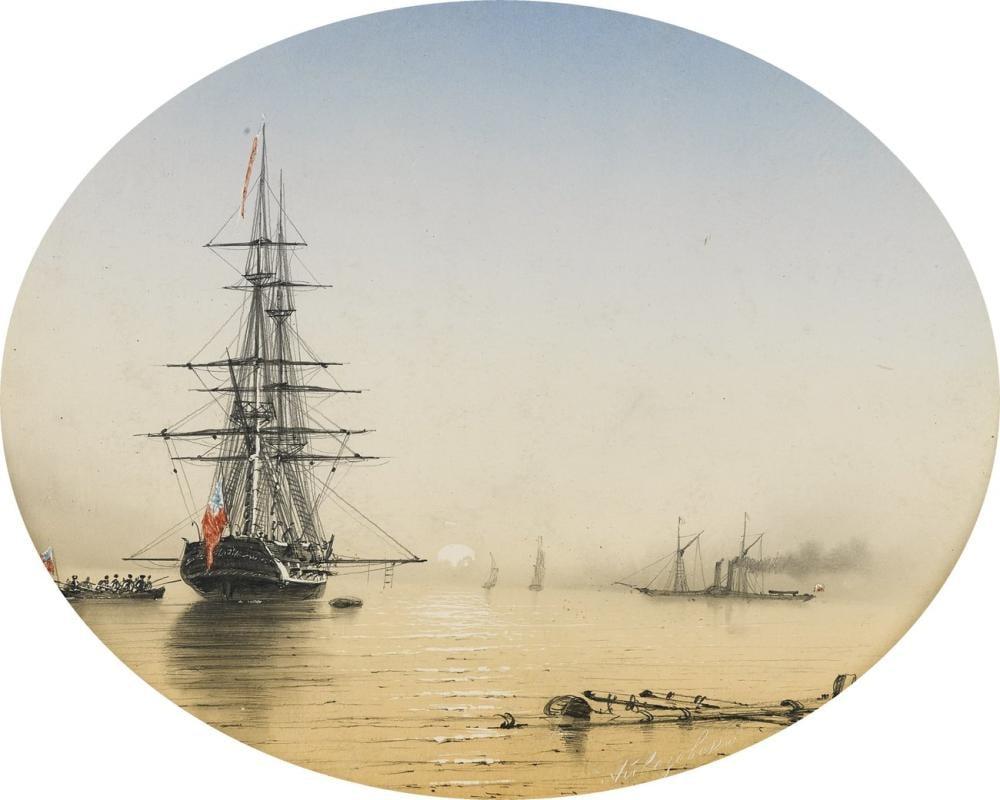 Ivan Aivazovsky Liman Sahnesi, Kanvas Tablo, Ivan Aivazovsky, kanvas tablo, canvas print sales