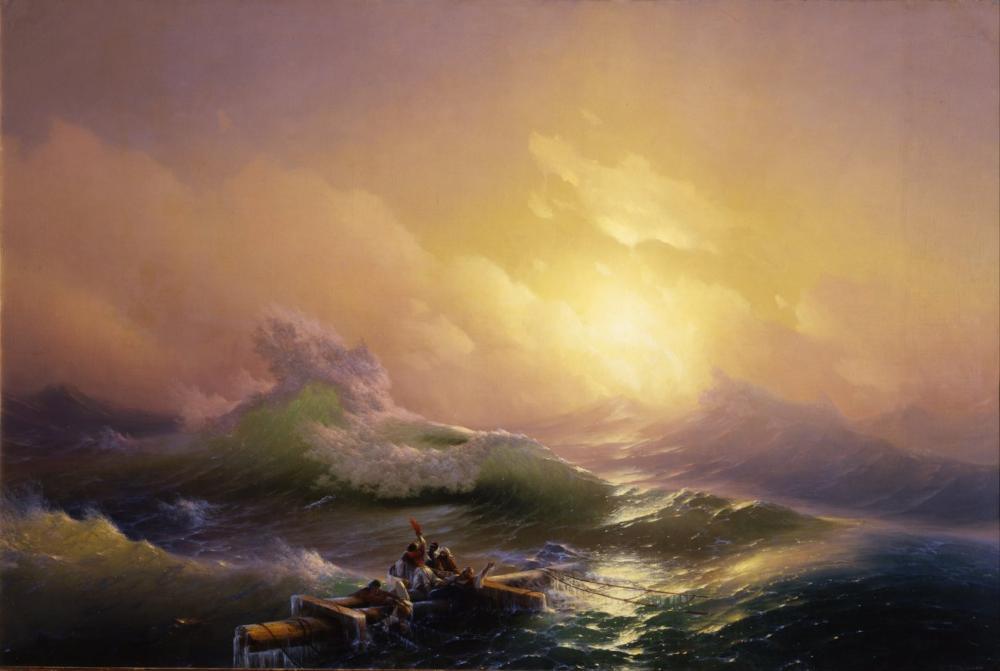 Ivan Aivazovsky Hovhannes Dokuzuncu Dalga, Kanvas Tablo, Ivan Aivazovsky, kanvas tablo, canvas print sales