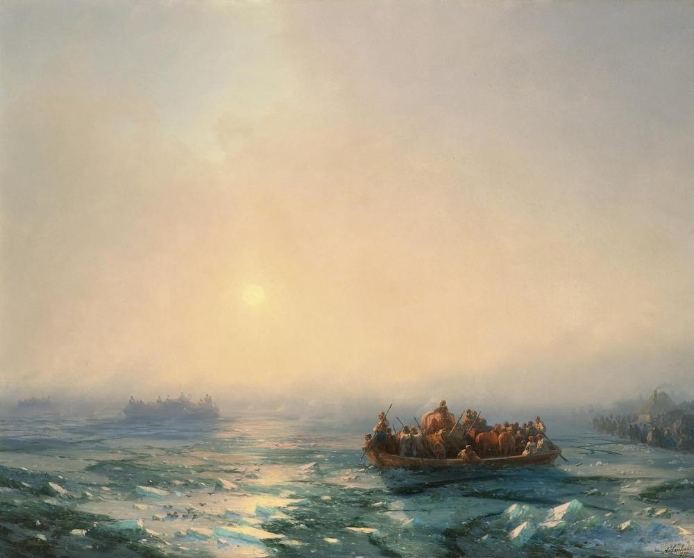 Ivan Aivazovsky Ice On Dnipro, Canvas, Ivan Aivazovsky, kanvas tablo, canvas print sales