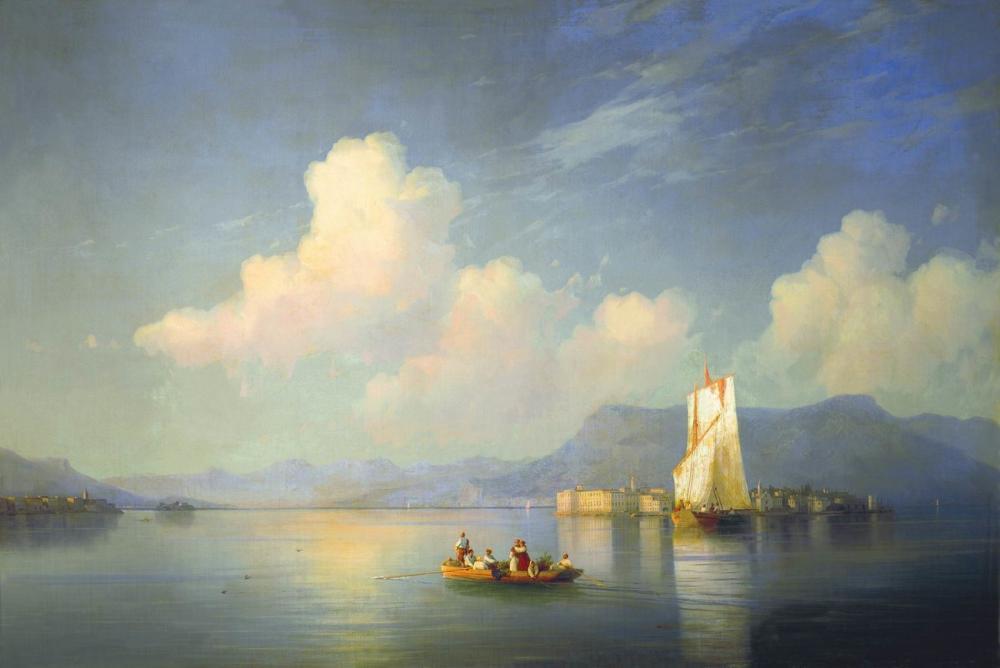 Ivan Aivazovsky İtalyan Sahne Vecher, Kanvas Tablo, Ivan Aivazovsky, kanvas tablo, canvas print sales