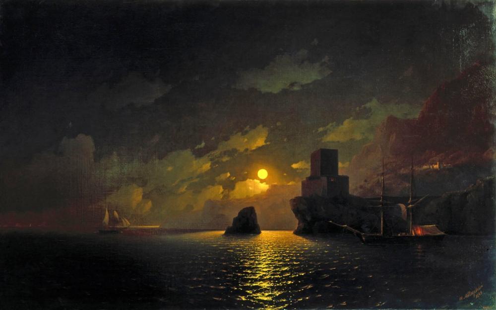 Ivan Aivazovsky Lunar Night, Canvas, Ivan Aivazovsky, kanvas tablo, canvas print sales