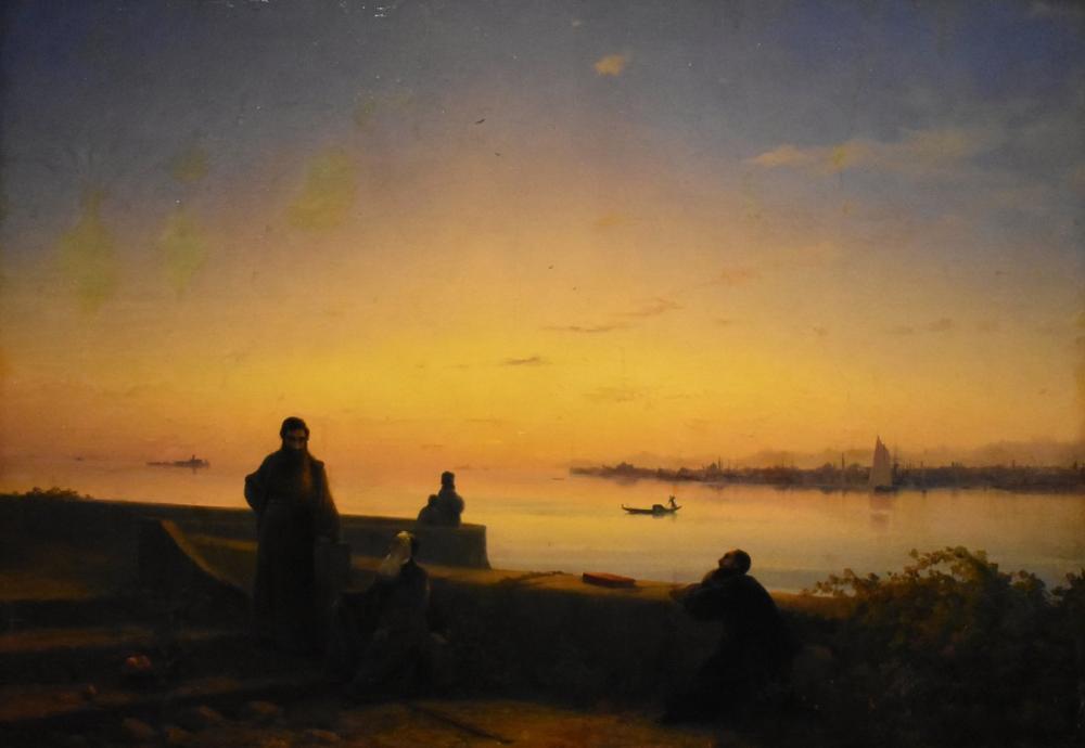 Ivan Aivazovsky Mekhitarist Fathers San Lazzaro, Canvas, Ivan Aivazovsky, kanvas tablo, canvas print sales