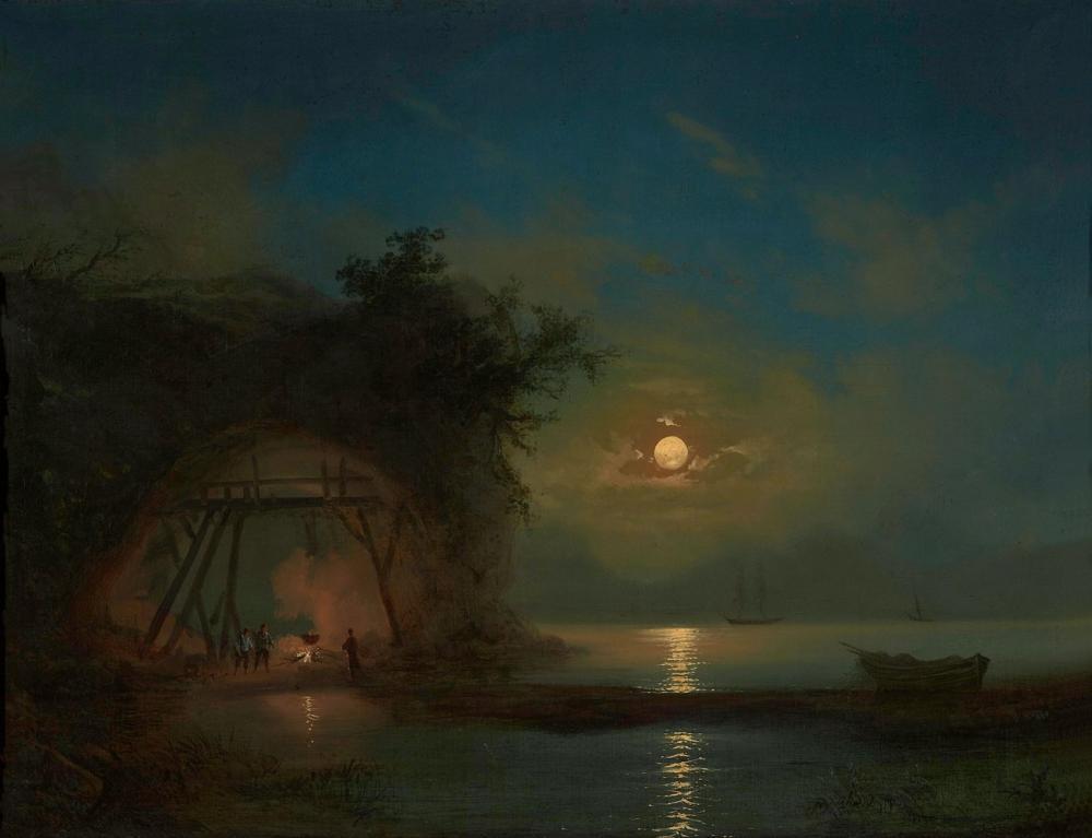 Ivan Aivazovsky Mehtaplı Gece, Kanvas Tablo, Ivan Aivazovsky, kanvas tablo, canvas print sales