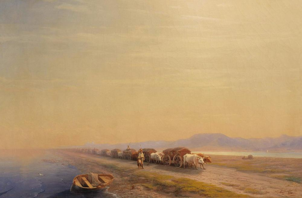 Ivan Aivazovsky Oxen On The Isthmus, Canvas, Ivan Aivazovsky, kanvas tablo, canvas print sales