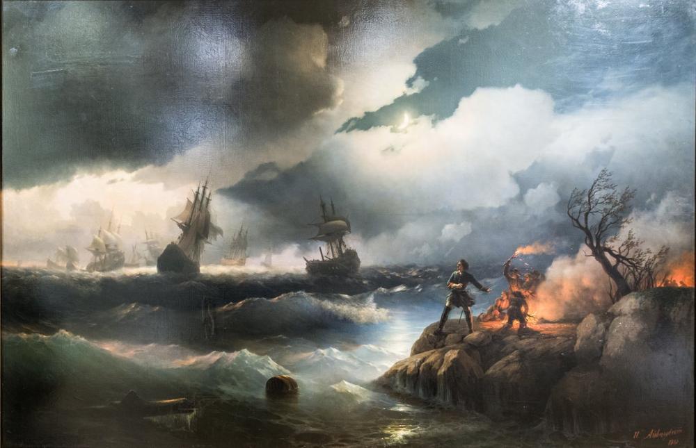 Ivan Aivazovsky Pierre Le Grand, Canvas, Ivan Aivazovsky, kanvas tablo, canvas print sales