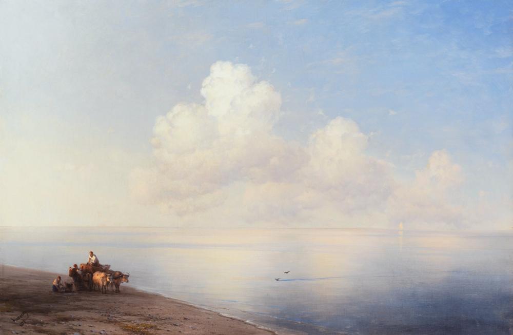 Ivan Aivazovsky Sessiz Deniz, Kanvas Tablo, Ivan Aivazovsky, kanvas tablo, canvas print sales
