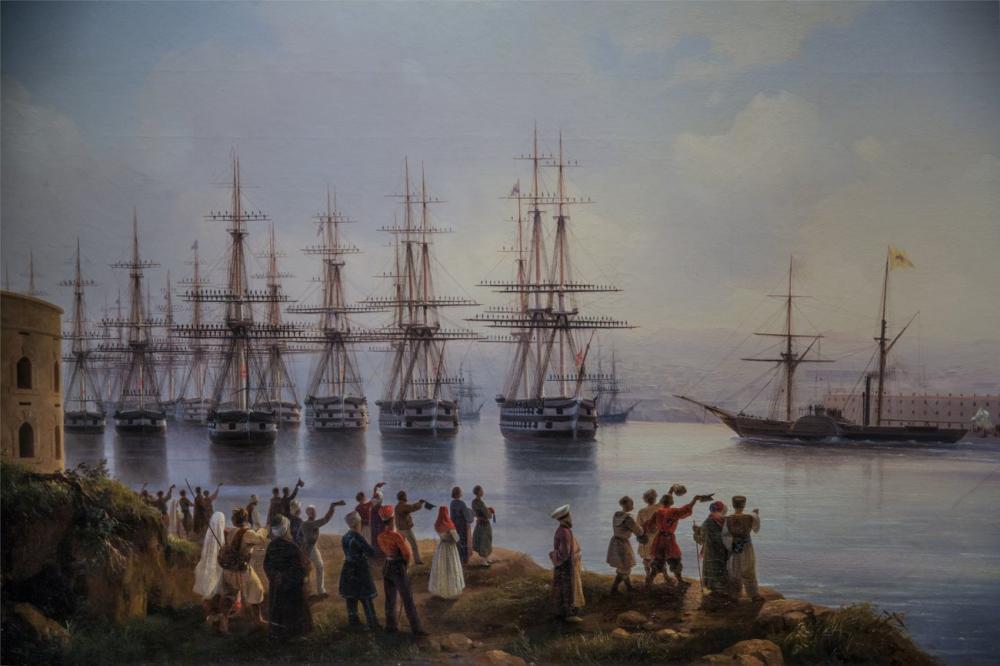 Ivan Aivazovsky Russian Squadron In The Sevastopol Raid, Canvas, Ivan Aivazovsky, kanvas tablo, canvas print sales