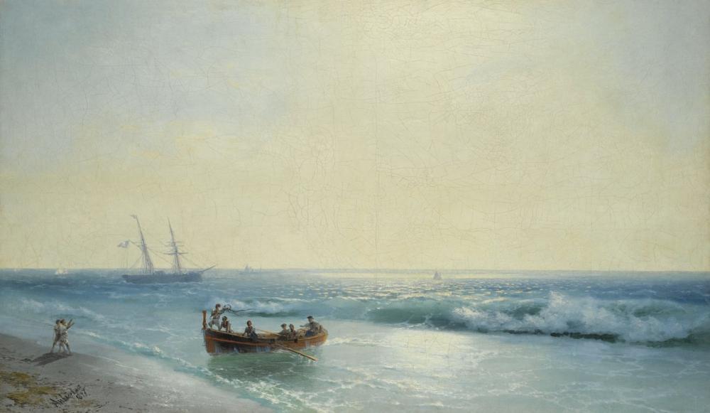 Ivan Aivazovsky Going To The Beach, Canvas, Ivan Aivazovsky, kanvas tablo, canvas print sales